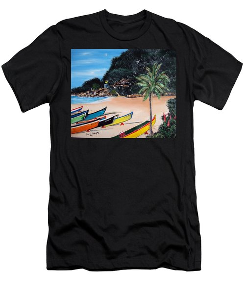 Crashboat Beach I Men's T-Shirt (Slim Fit) by Luis F Rodriguez