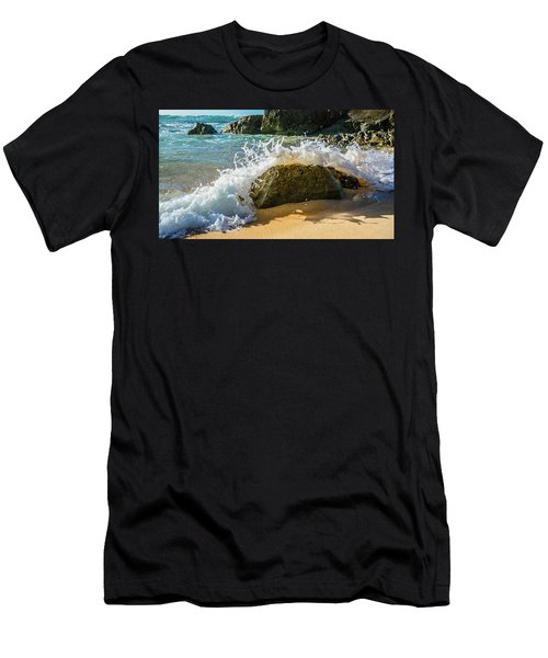 Crashing Over The Rock Men's T-Shirt (Athletic Fit)