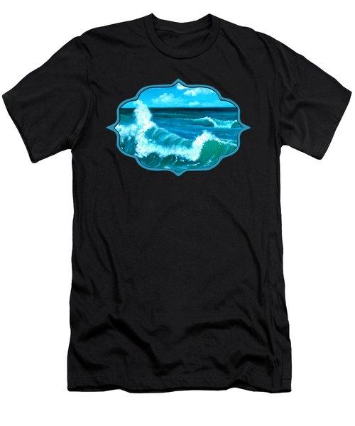 Men's T-Shirt (Athletic Fit) featuring the painting Crashing Wave by Anastasiya Malakhova