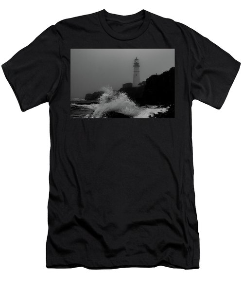 Crashing Waves On A Foggy Morning Men's T-Shirt (Athletic Fit)