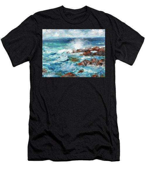 Crashing Waves Men's T-Shirt (Athletic Fit)