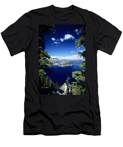 Crater Lake Men's T-Shirt (Slim Fit) by Allan Seiden - Printscapes