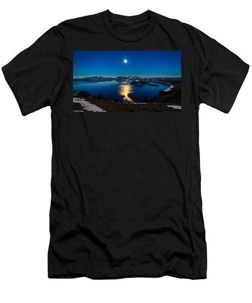 Crater Lake Moonlight Men's T-Shirt (Athletic Fit)