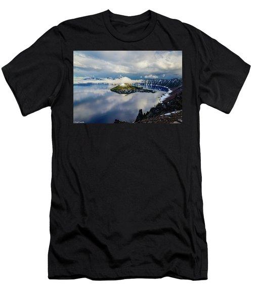 Crater Lake Storm Men's T-Shirt (Athletic Fit)