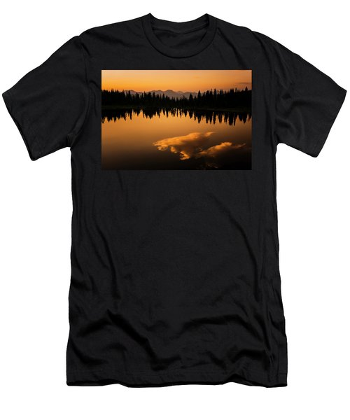 Crater Lake Sunset Men's T-Shirt (Athletic Fit)
