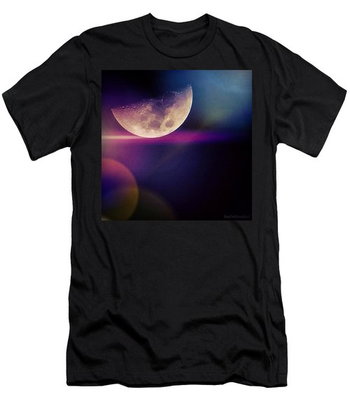 #crazy #colorful #fun #moon And The Men's T-Shirt (Athletic Fit)
