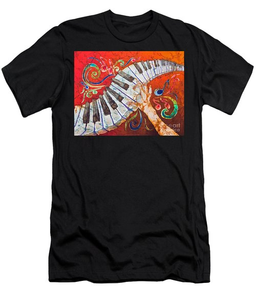Crazy Fingers - Piano Keyboard  Men's T-Shirt (Athletic Fit)