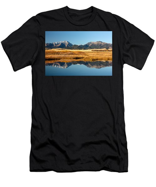 Crazy Mountain Reflections Men's T-Shirt (Athletic Fit)
