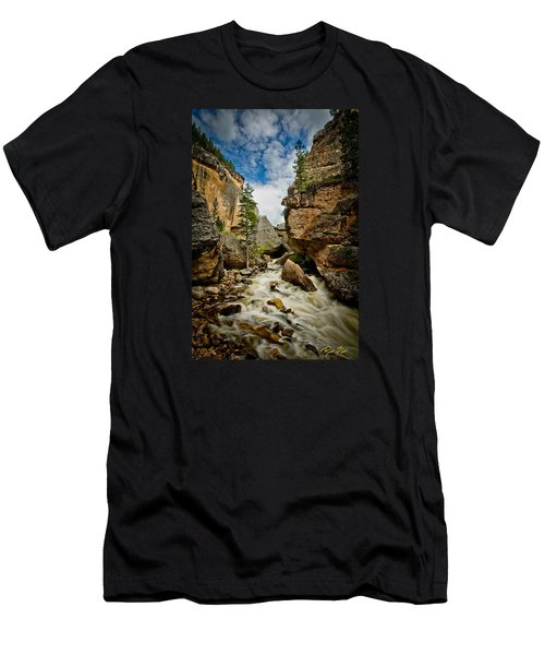 Men's T-Shirt (Athletic Fit) featuring the photograph Crazy Woman Canyon by Rikk Flohr