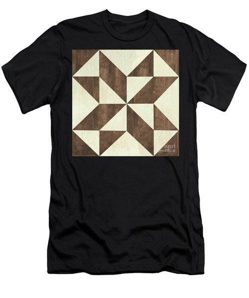 Cream And Brown Quilt Men's T-Shirt (Athletic Fit)
