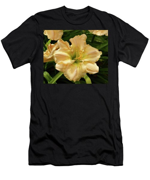 Men's T-Shirt (Slim Fit) featuring the photograph Cream Daylily by Sandy Keeton