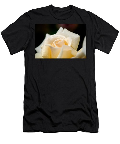 Cream Rose Kisses Men's T-Shirt (Athletic Fit)