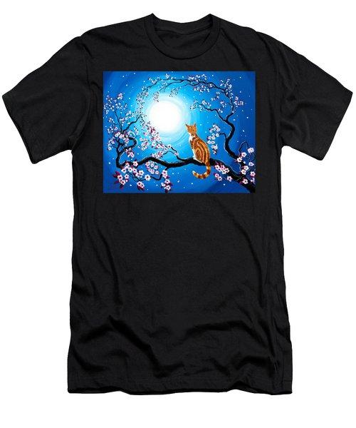 Creamsicle Kitten In Blue Moonlight Men's T-Shirt (Athletic Fit)