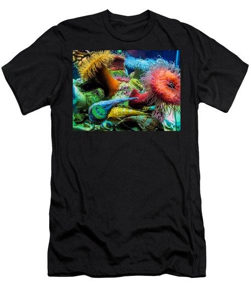 Creatures Of The Aquarium Men's T-Shirt (Slim Fit) by Lynn Bolt