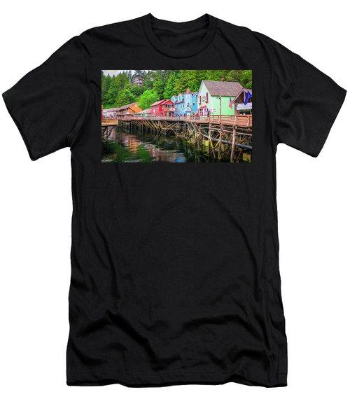 Creek Street Ketchikan Alaska Men's T-Shirt (Athletic Fit)