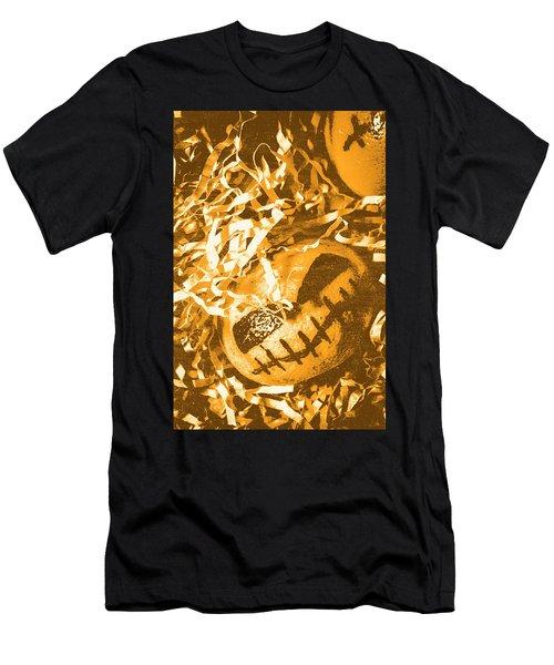 Creepy Vintage Pumpkin Head  Men's T-Shirt (Athletic Fit)
