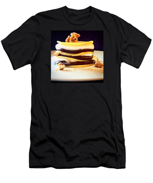 Crepes Nutella Walnuts And Cream Men's T-Shirt (Athletic Fit)
