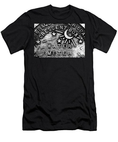 Crescent Box New Orleans Men's T-Shirt (Athletic Fit)