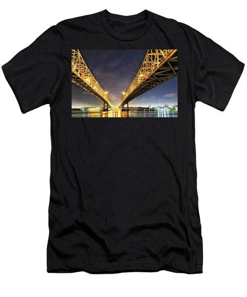 Crescent City Bridge In New Orleans Men's T-Shirt (Athletic Fit)