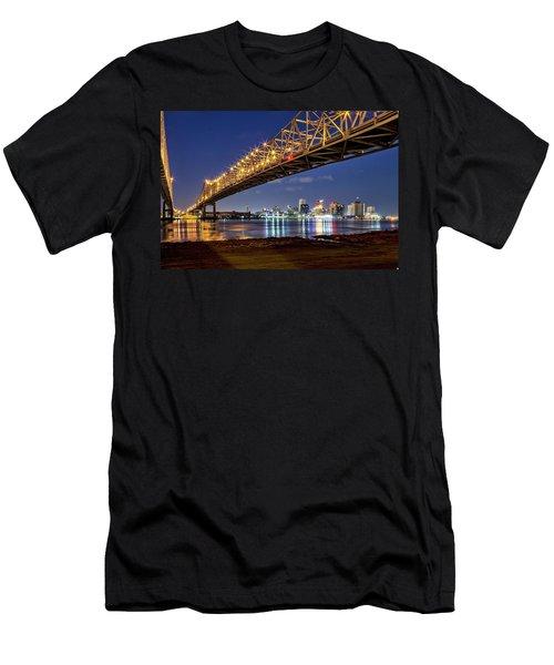 Crescent City Bridge, New Orleans Men's T-Shirt (Athletic Fit)
