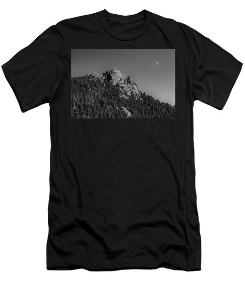 Men's T-Shirt (Slim Fit) featuring the photograph Crescent Moon And Buffalo Rock by James BO Insogna