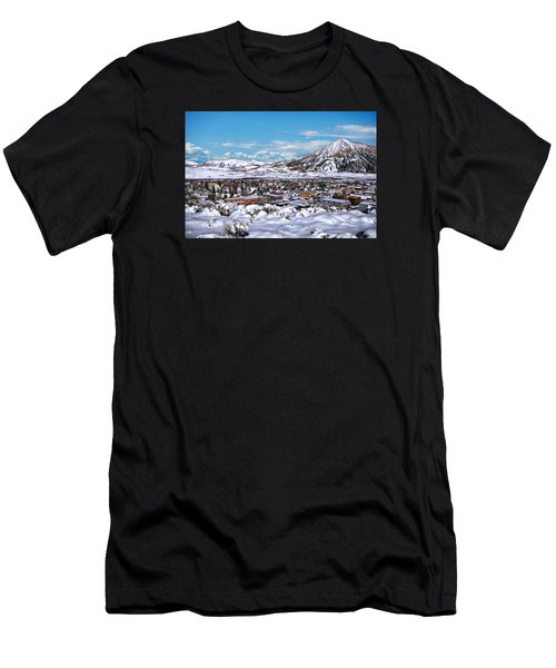 Men's T-Shirt (Athletic Fit) featuring the photograph Crested Butte Panorama by Anthony Dezenzio