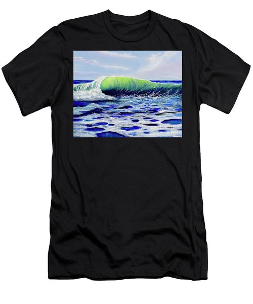 Men's T-Shirt (Athletic Fit) featuring the painting Cresting Wave by Mary Scott