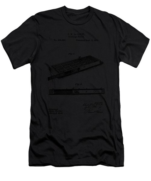 Cribbage Board 1879 Patent Art Transparent Men's T-Shirt (Athletic Fit)