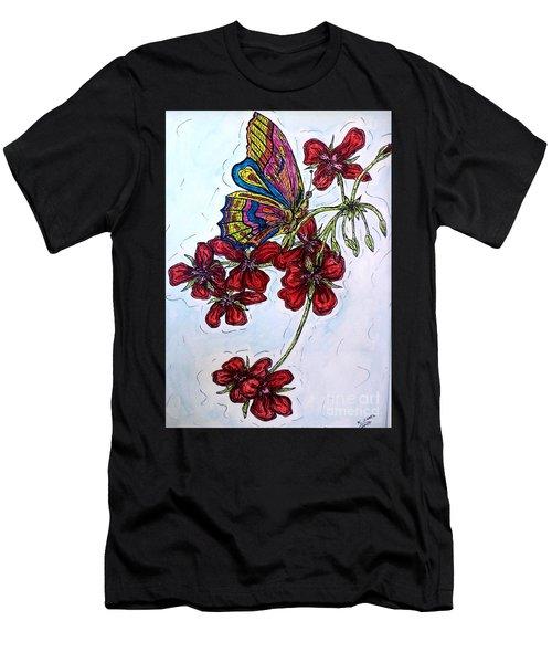 Crimson Fancy Men's T-Shirt (Athletic Fit)