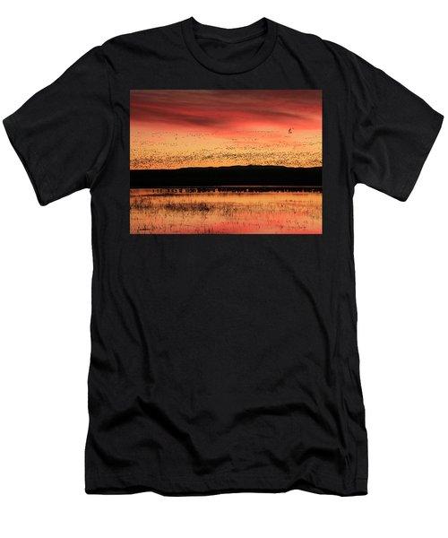 Crimson Sunset At Bosque Men's T-Shirt (Athletic Fit)