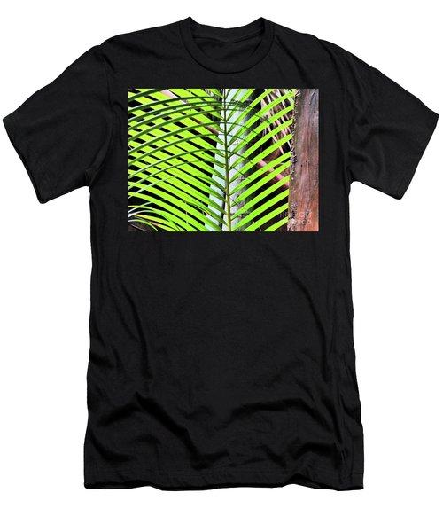 Crisscrossing Palms Men's T-Shirt (Athletic Fit)