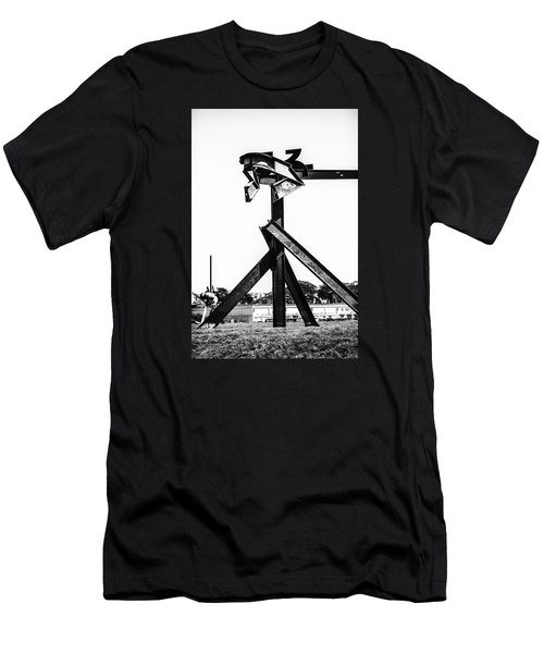 Men's T-Shirt (Athletic Fit) featuring the photograph Crissy Field Iron Scuplure by Michael Hope
