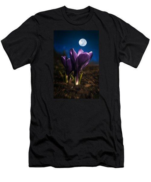 Crocus Moon Men's T-Shirt (Athletic Fit)