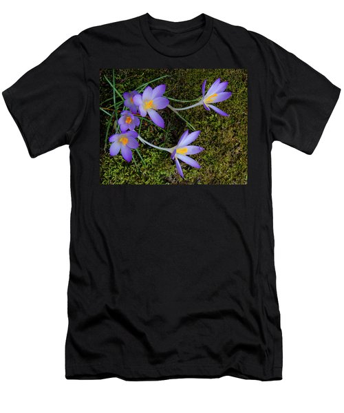 Men's T-Shirt (Athletic Fit) featuring the photograph Crocus Outreach by Roger Bester