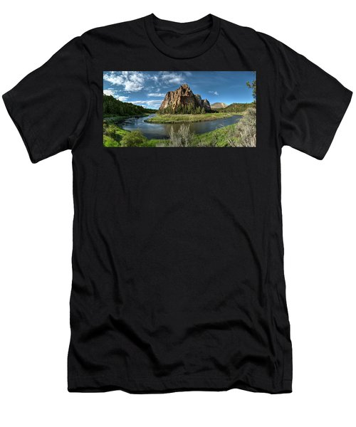 Crooked River And Smith Rock Men's T-Shirt (Athletic Fit)