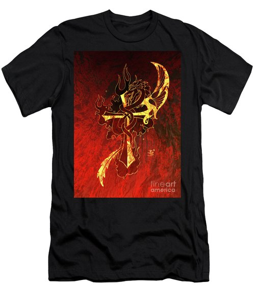 Cross And Dragon Men's T-Shirt (Athletic Fit)