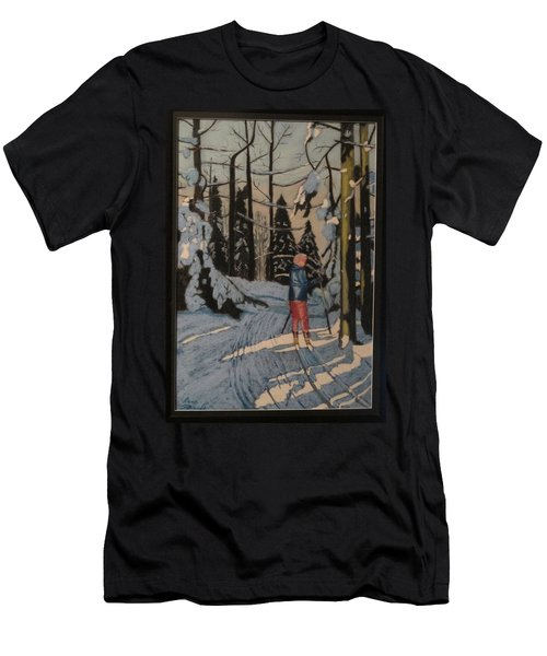 Cross Country Skiing In Upstate Ny Men's T-Shirt (Athletic Fit)