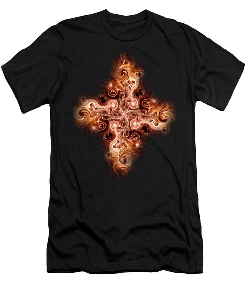 Cross Of Fire Men's T-Shirt (Athletic Fit)