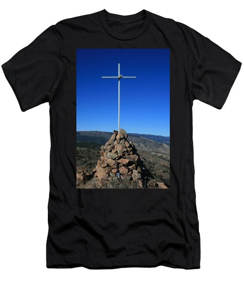 Cross On Fremont Peak Men's T-Shirt (Athletic Fit)