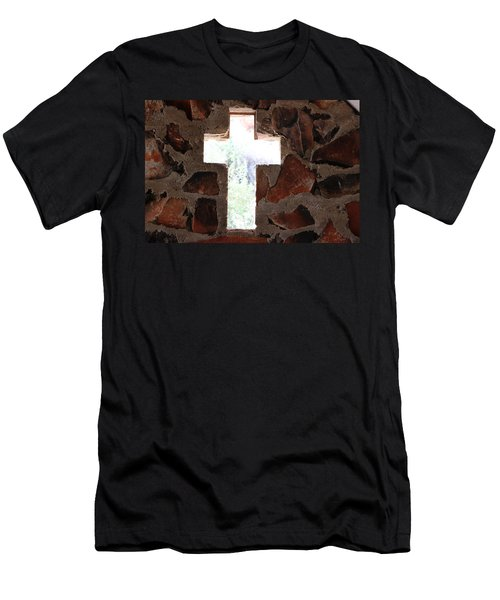Cross Shaped Window In Chapel  Men's T-Shirt (Athletic Fit)