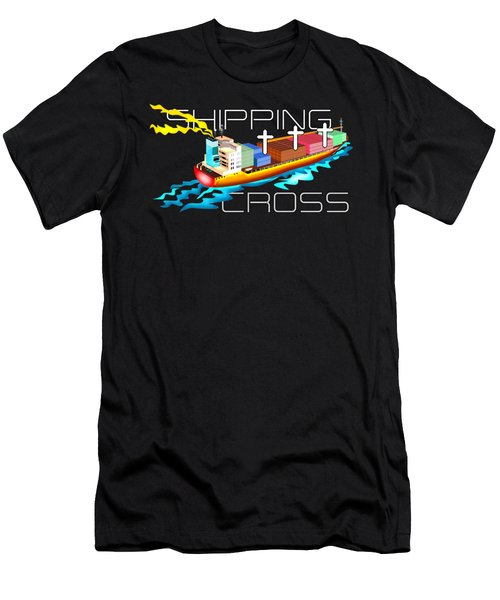 Cross Shipping Men's T-Shirt (Athletic Fit)