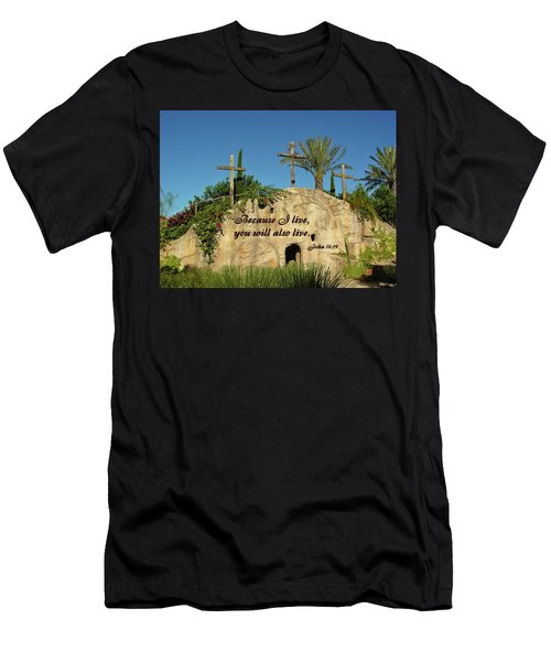 Crosses And Resurrection Men's T-Shirt (Athletic Fit)