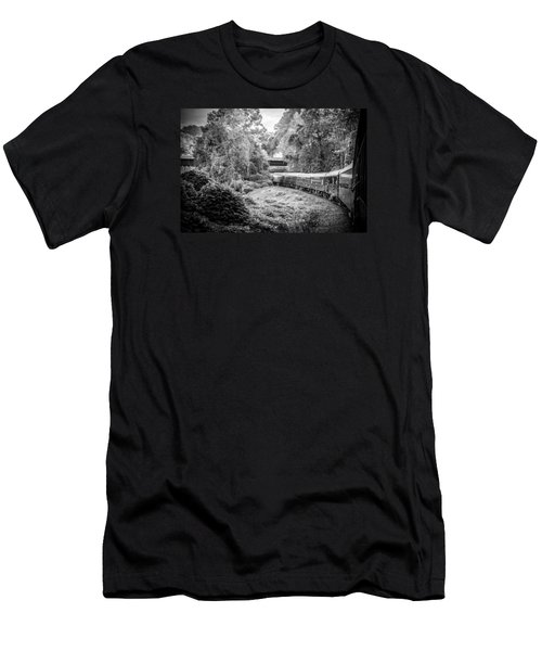 Men's T-Shirt (Slim Fit) featuring the photograph Crossing Paths  by Kelly Hazel