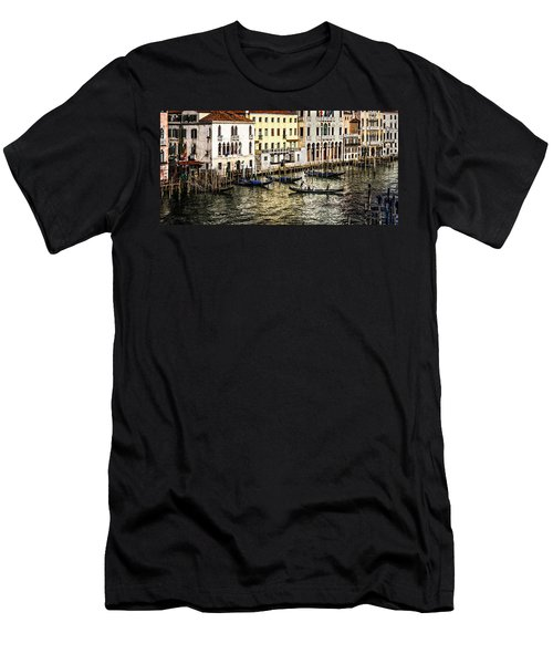 Men's T-Shirt (Athletic Fit) featuring the photograph Crossing The Canal by M G Whittingham