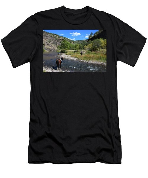 Crossing The Gila On Horseback Men's T-Shirt (Athletic Fit)