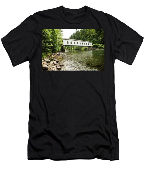 Crossing The Mckenzie River Men's T-Shirt (Athletic Fit)