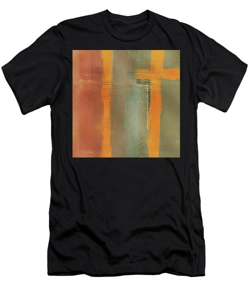 Men's T-Shirt (Athletic Fit) featuring the mixed media Crossroads by Eduardo Tavares