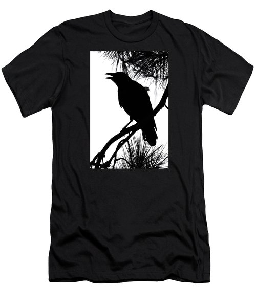 Men's T-Shirt (Slim Fit) featuring the photograph Crow Silhouette by Patricia Schaefer