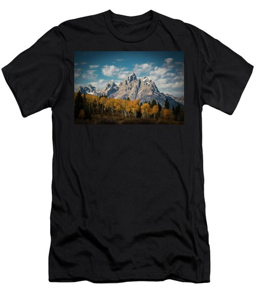 Crown For Tetons Men's T-Shirt (Slim Fit) by Edgars Erglis