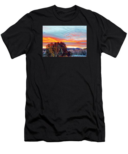 Crows Before Dawn El Valle New Mexico Men's T-Shirt (Slim Fit) by Anastasia Savage Ealy